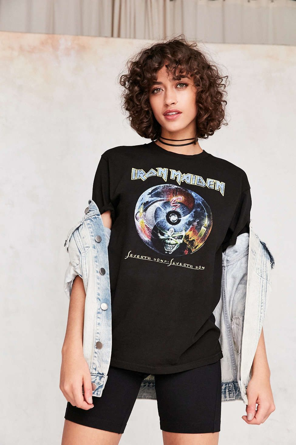 94a0ff36 Iron Maiden Tee - Urban Outfitters | Tees | Womens vintage tees, T ...