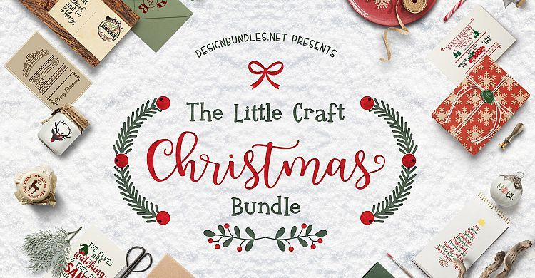 The Little Craft Christmas Bundle from Design Bundles! So