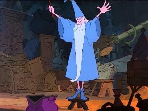 Merlin L Enchanteur Higitus Figitus Hd Youtube Disney Animated Movies Disney Concept Art Merlin
