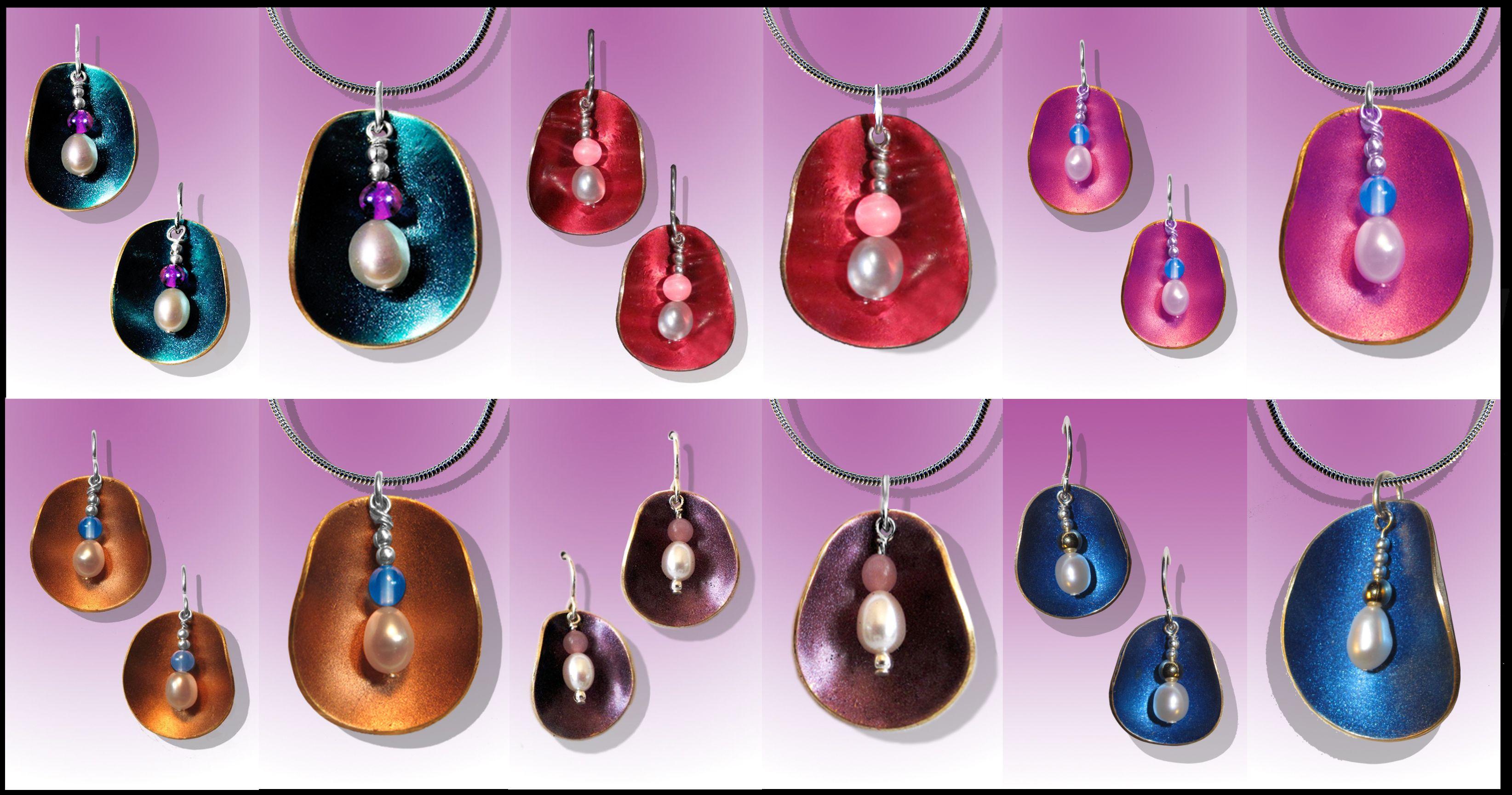 Half Shell earrings and pendants by Scott Lesh (www.LeDanse.com)