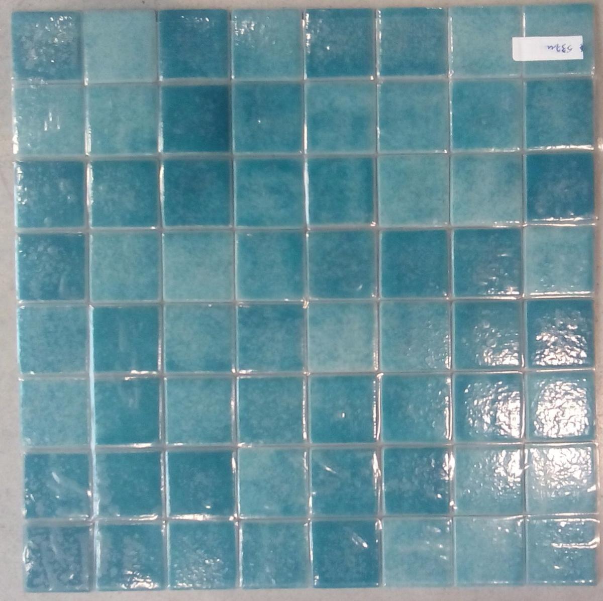 Mosaïque carrelage , vert turquoise mouche 4 cm par plaque - Achat ...