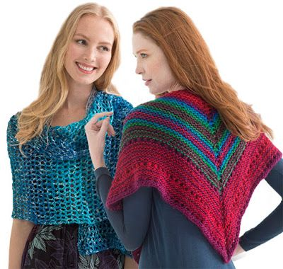 @lionbrandyarn SHAWL IN A BALL Yarn - Make a shawl with 1 skein of yarn!  Available at our Ben Franklin Crafts store in Monroe, WA. 360-794-6745