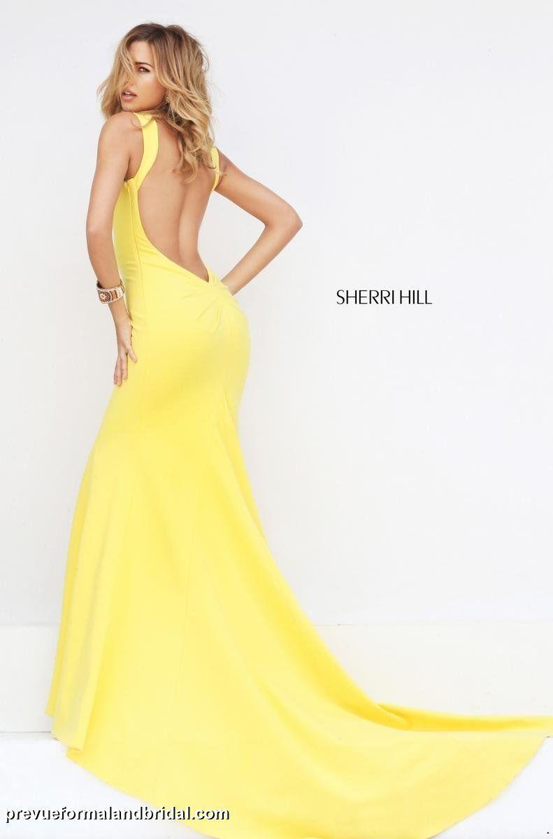 78bd924da0 Yellow prom dress. Low back prom dress. Open back…