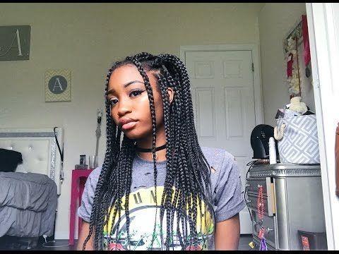 quick & easy box braid hairstyles
