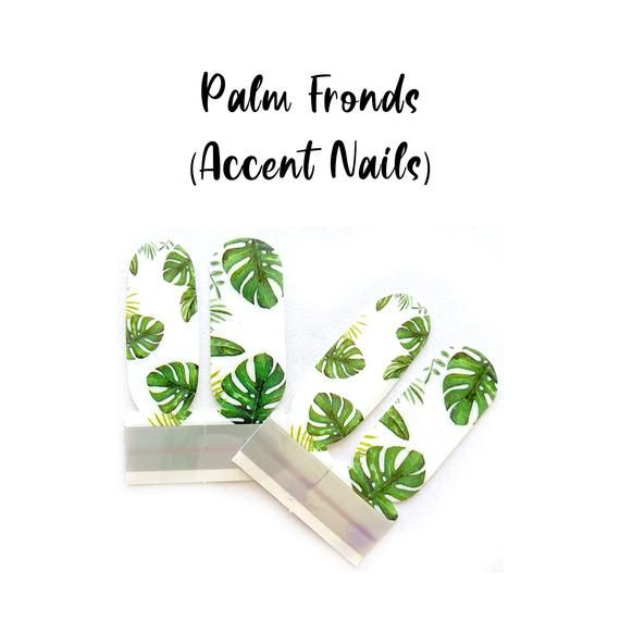 Photo of Palm Fronds Nail Wraps (Accent Nails) 100% Nail Polish Stickers