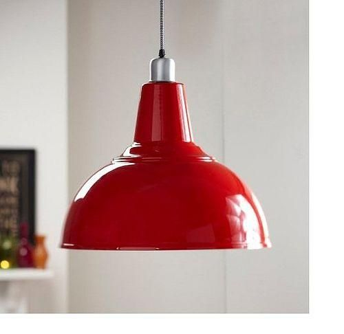Room · Extra Large Red Enamel Kitchen Pendant Light ...