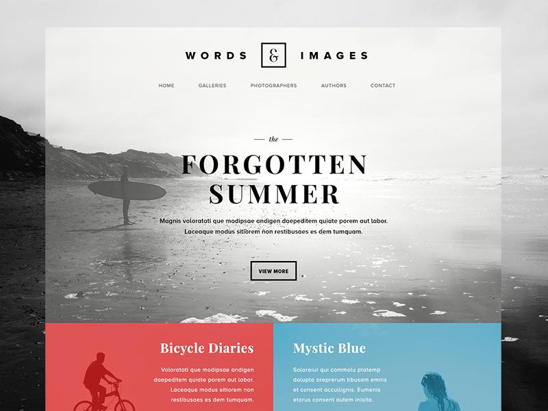 Words Images Photography Poetry Website Web Design Website Design Web Layout Design