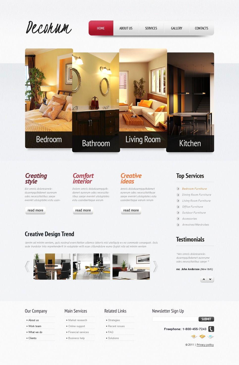 Interior Design Psd Template 56913 Interior Design Website Interior Design Software Web Design Software