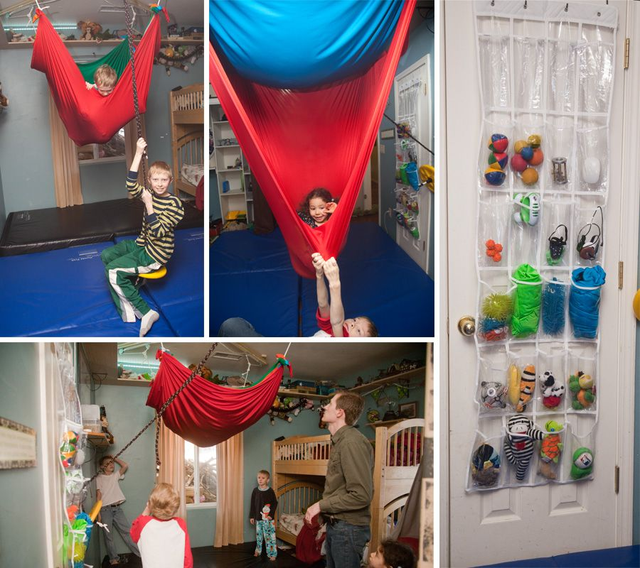 """Mosey's Days Hung up a sensory """"cloud"""" in the sensory room"""