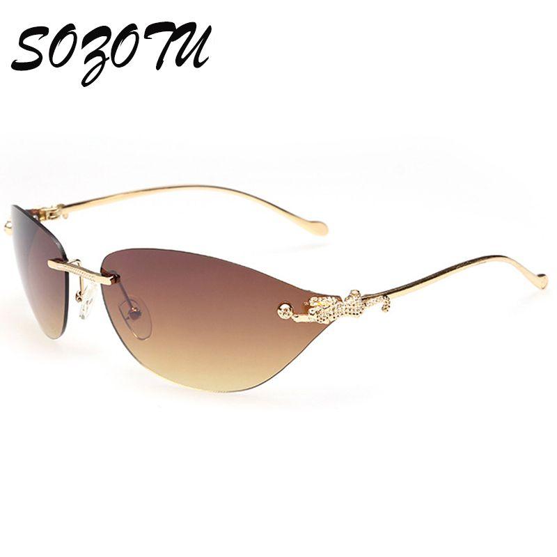 SOZOTU Fashion Sunglasses Women Rimless Sun Glasses Ladies Luxury Brand  Designer For Female Photochromic Shades Oculos d46b71ad99abb