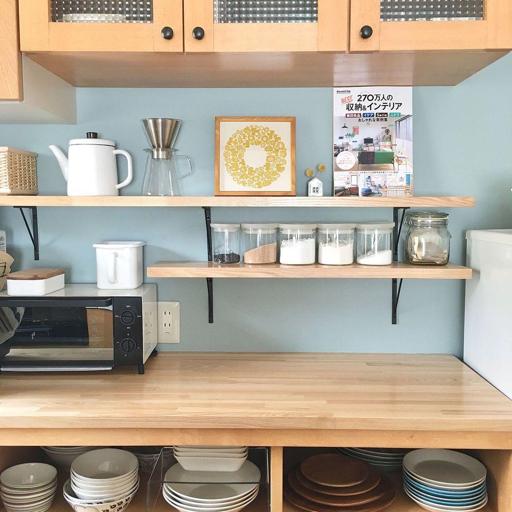 キッチンの背面収納 おしゃれで機能的なアイデア 実例画像50選