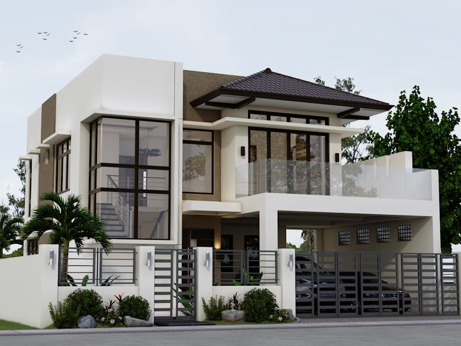 Valerio Residence Asian By Angeles Designs Asian Homify Philippines House Design 2 Storey House Design Modern Bungalow House