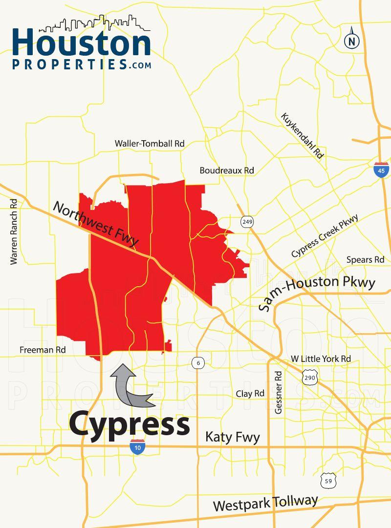 Cypress tx map great maps of houston pinterest