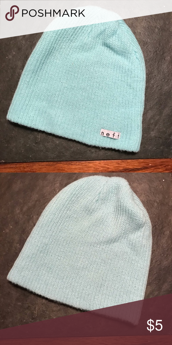 178e25fc4b5 Neff Stocking Hat Winter Hat Winter Beanie Baby Blue   Light Blue    Turquoise - Worn Handful of Times