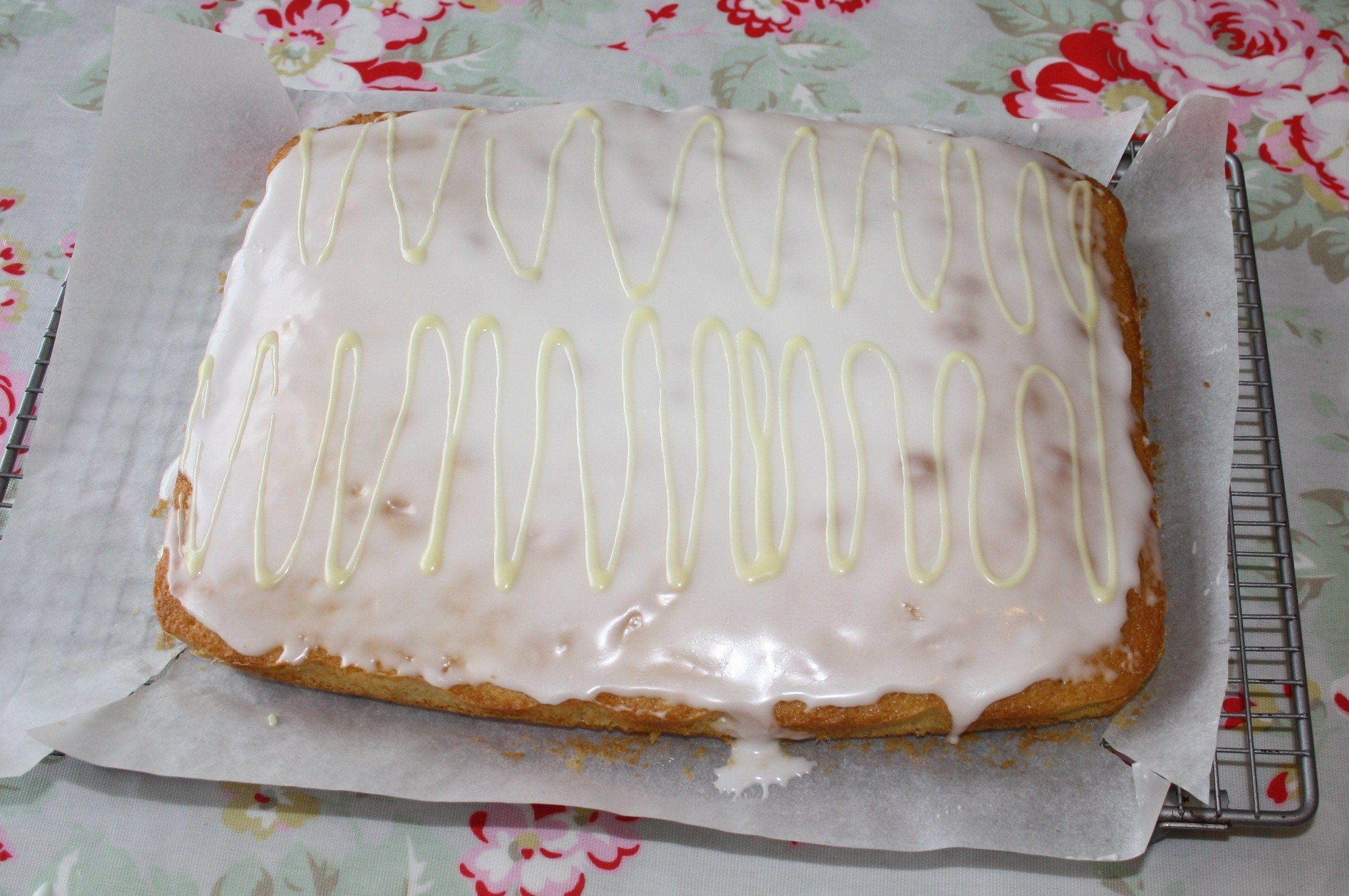 Mary Berry's Lemon traybake. It's sooo light and fluffy. I'm making it again this weekend!