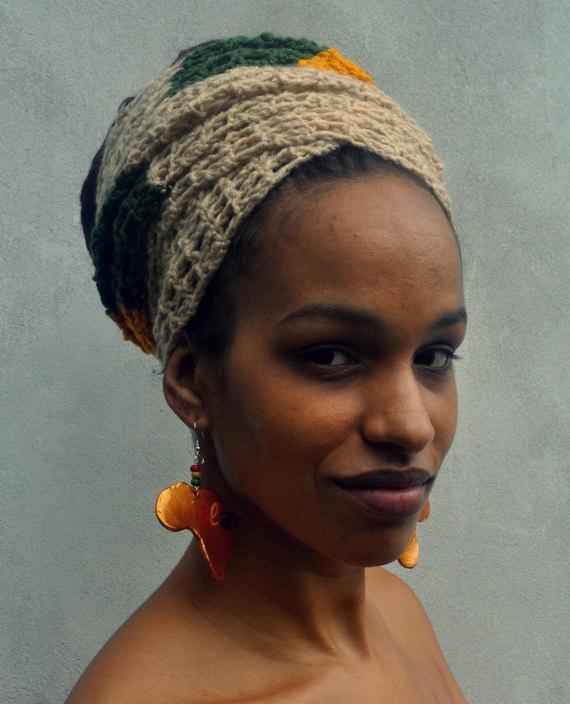 Ila Narrow Crochet Head Wrap Multiwear Scarf Or Belt With Rasta