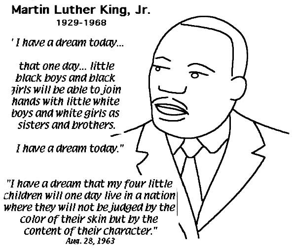 complete speech from martin luther king jr coloring page free - Martin Luther King Jr Coloring Pages