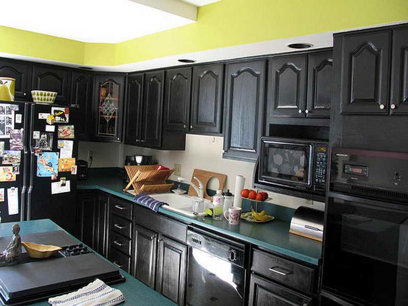 Do It Yourself Kitchen Cabinets Painting Ideas: Diy Black Dresser Kitchen  Cabinets Painting Closed Dark Kitchen Cabinets Painted Green Mosaic  Countertop ...