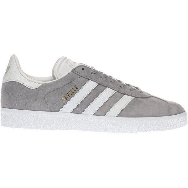 Womens Light Grey Adidas Gazelle Snake Trainers | schuh ($96 ...