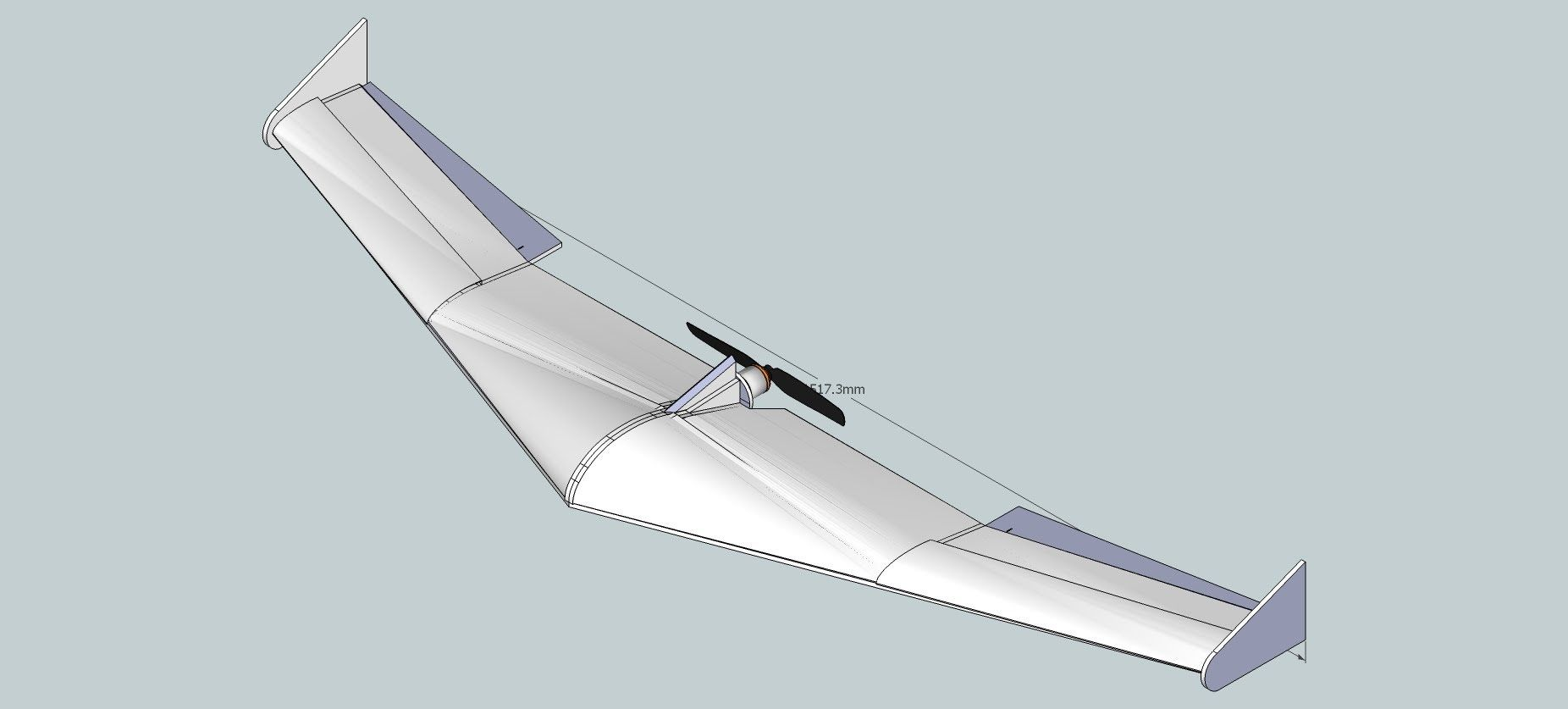 1500mm Flying Wing Designed In Google Sketchup And How To Create Pdf Plans From Sketchup Wings Design Flying Wing Wings