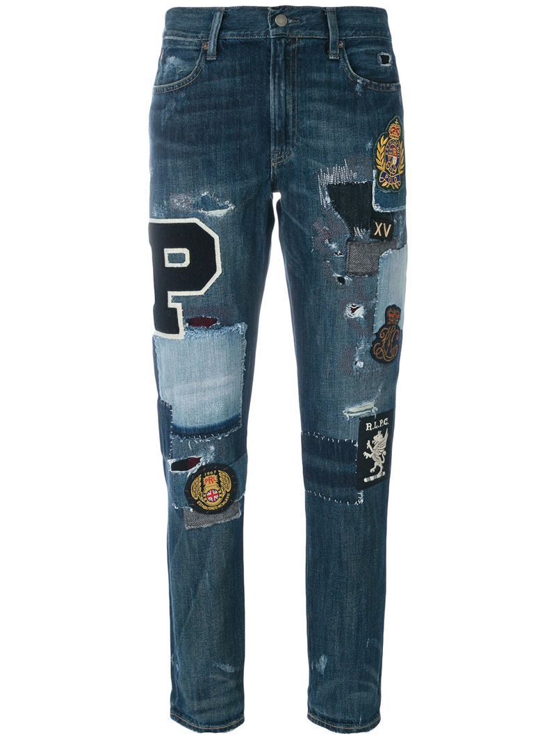 34bce8c0 Polo Ralph Lauren Patchwork Jeans | Denim in 2019 | Patchwork jeans ...
