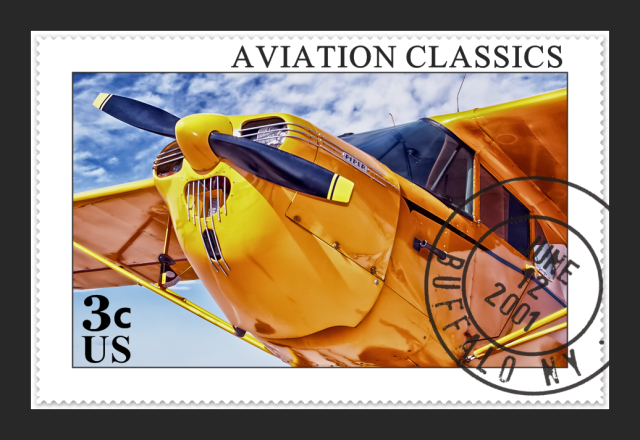 Piper Postage Stamp Aviation art, Golf bags, Postage stamps