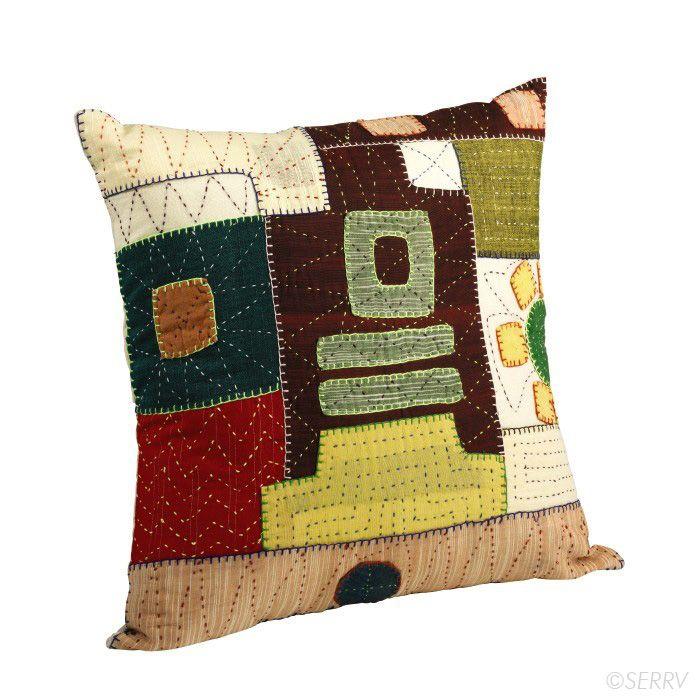 Textiles - Kantha Patchwork Pillow | SERRV