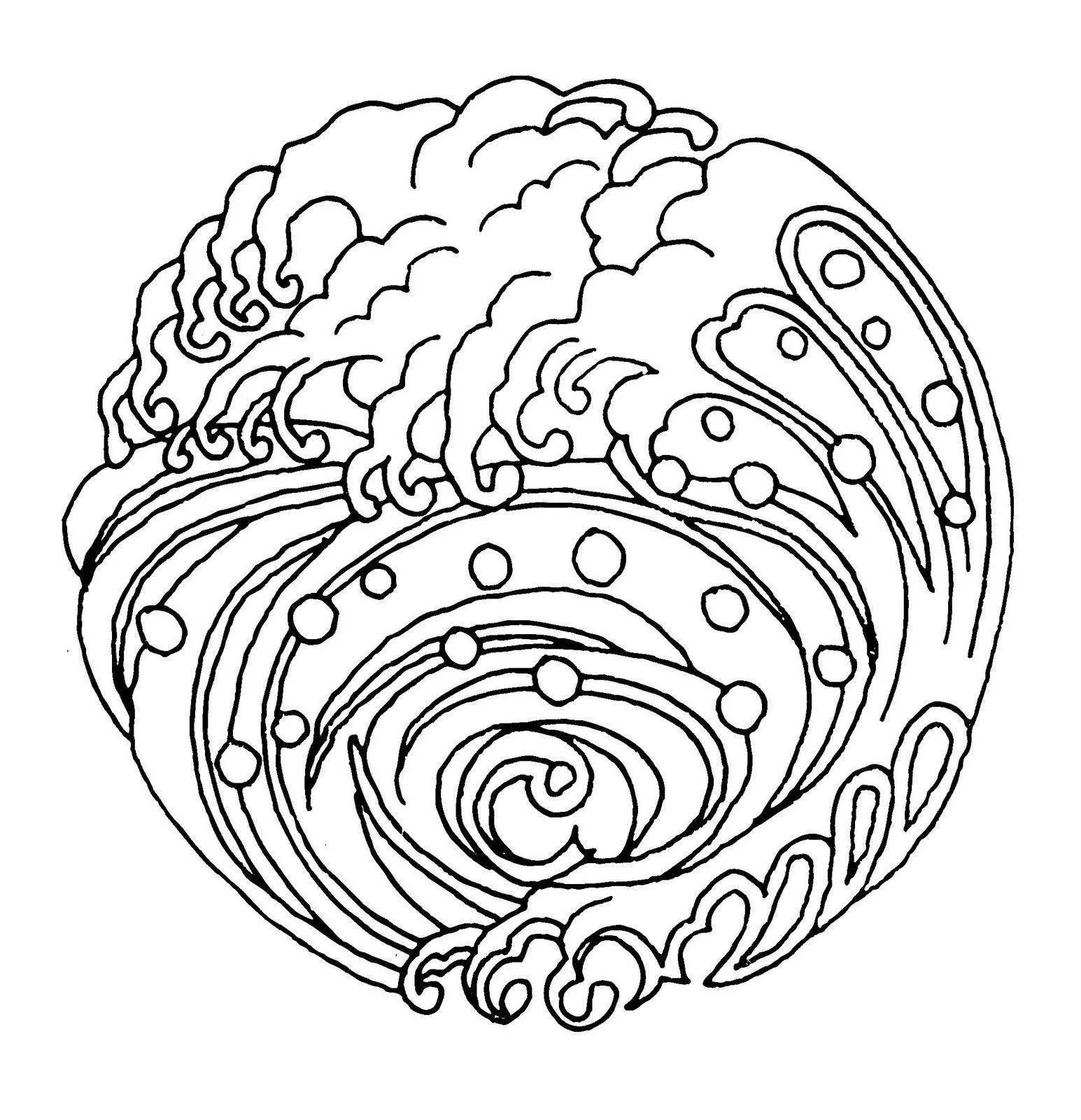 Mandalas Para Pintar Mandala olas  Mandala  Pinterest  Mandala