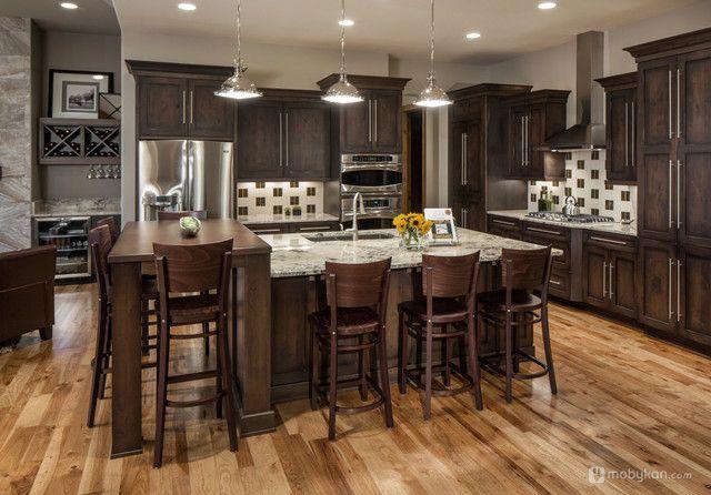 صور مطابخ حديثه و اشكال مطابخ مودرن و مميزه من موبيكان Rustic Chic Kitchen Rustic Kitchen Decor Rustic Modern Kitchen