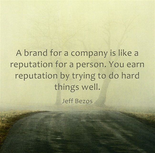 Reputation Management Quote Jeff Bezos Chatmeter