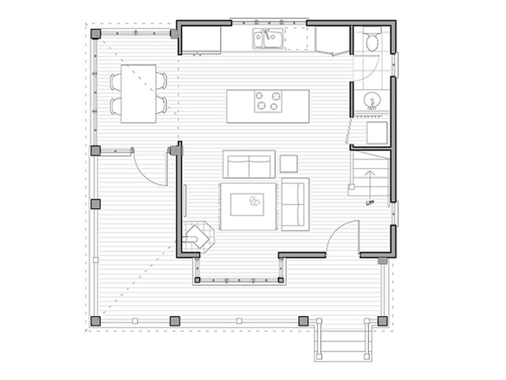 Houseplanscom Cottage Main Floor Plan Plan 47910 The Woodland