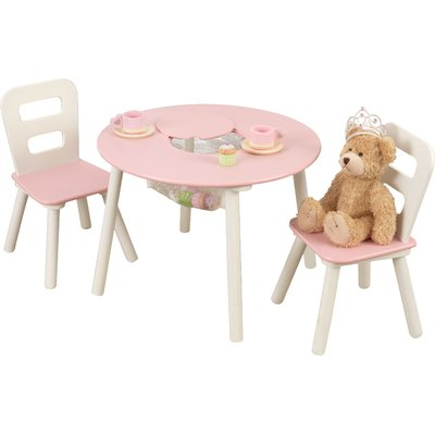 Terrific Kidkraft Kids 3 Piece Round Table And Chair Set In 2019 Pabps2019 Chair Design Images Pabps2019Com