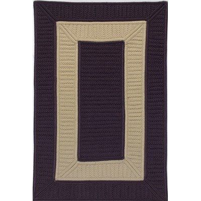 Colonial Mills TO25 Tournament Eggplant/Linen Rug Rug Size: 11' x 14' by Colonial Mills. $1149.93. TO25R132X168S Rug Size: 11' x 14' Features: -Technique: Braided / Cablelock.-Material: 100pct Polypropylene.-Origin: United States.-Crisp border-in-border reversible indoor / outdoor rugs.-Perfect for kids rooms, play areas, or to just add a little spice to a room.-Reversible for twice the wear.-Stain, Fade, and Mildew Resistant. Construction: -Construction: Handmade. Dimensio...
