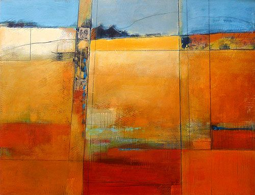 Karen Jacobs Melange Acrylic And Mixed Media 48 X 72 Abstract Abstract Art Landscape Abstract Painting