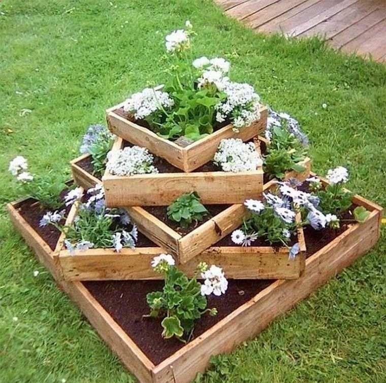 Shed diy fabriquer une jardiniere en bois palette modele - Fabriquer une jardiniere en bois de palette ...