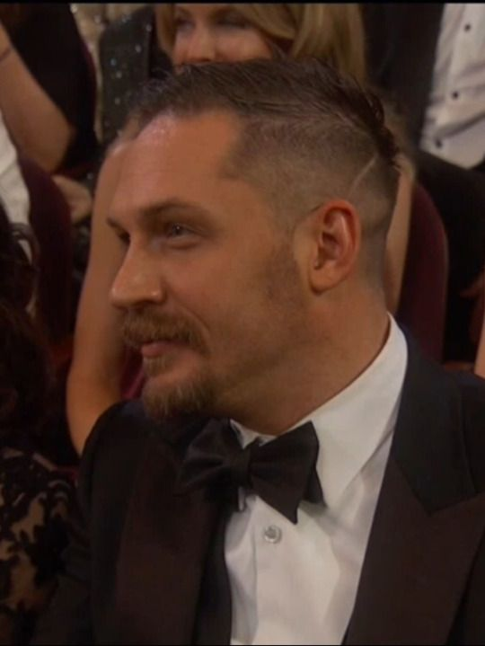 Tom Hardy during Leonardo DiCaprio's acceptance speech at the 88th Academy Awards - Feb. 28th 2016