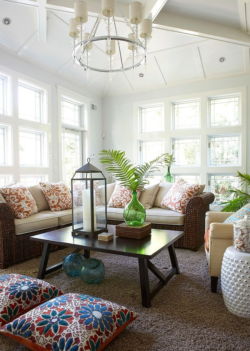 25 cheerful and relaxing beach style sunrooms conservatories andrattan furniture is perfect for the relaxed sunroom [design threshold interiors]