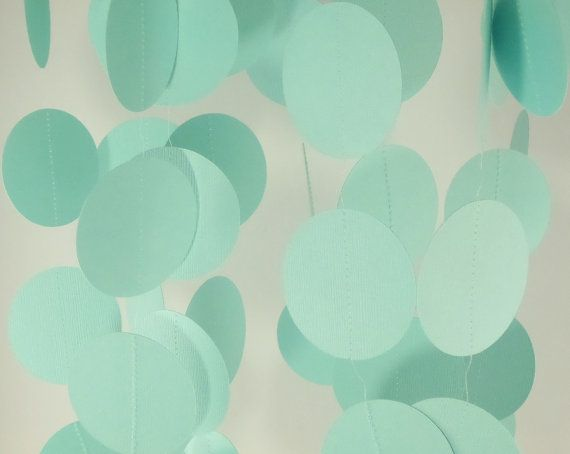 Light Teal Paper Garland Wedding Garland Party by TheDecorBoutique, $10.00