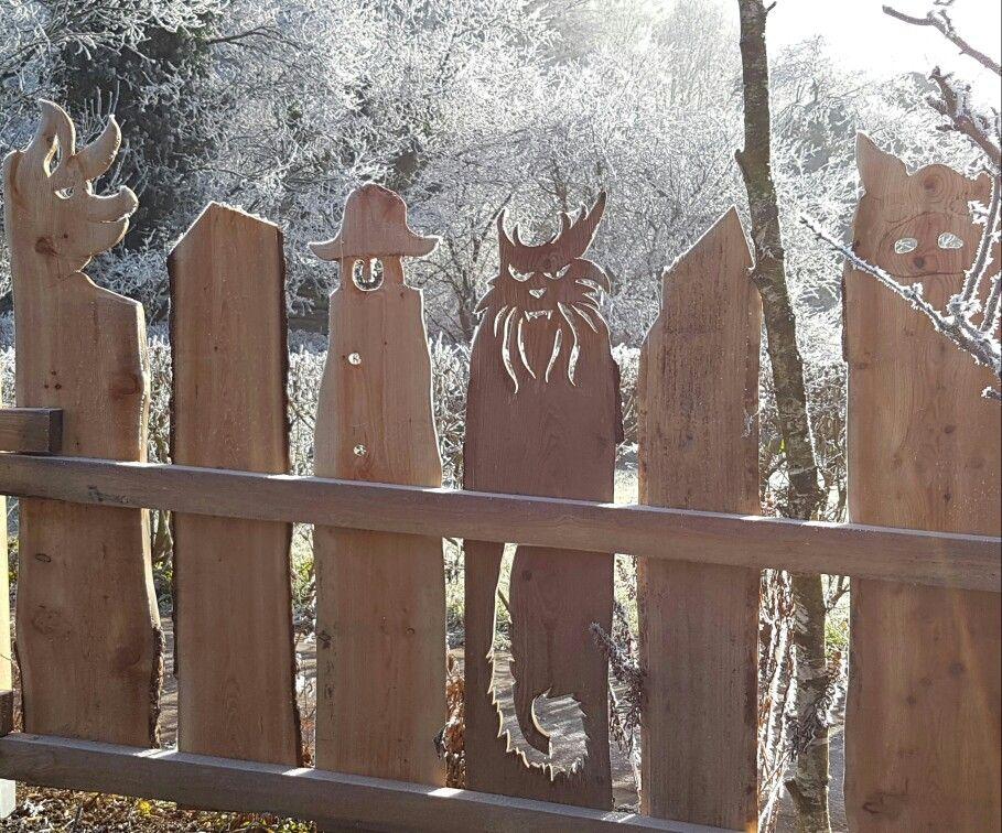 Holz Zaun Schwein Katze Outdoor Wood Summer Crafts Plasma Cut