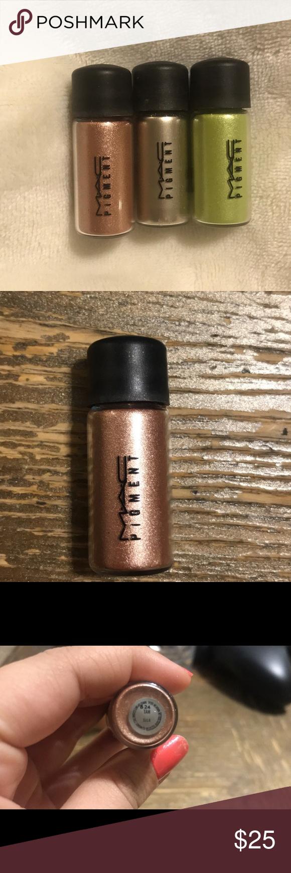 Mac mini pigment in Chartreuse, Platinum, and Tan. Brand