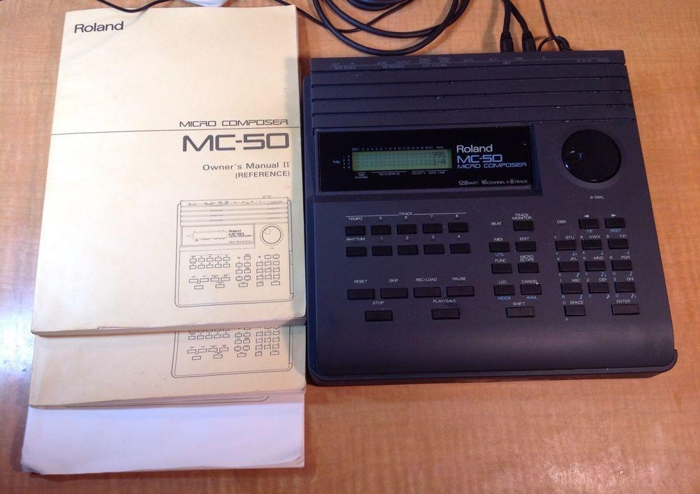 roland mc 50 micro composer midi sequencer mc50 with manuals moe rh pinterest com roland mc-50 manual download roland mc-50 manual download