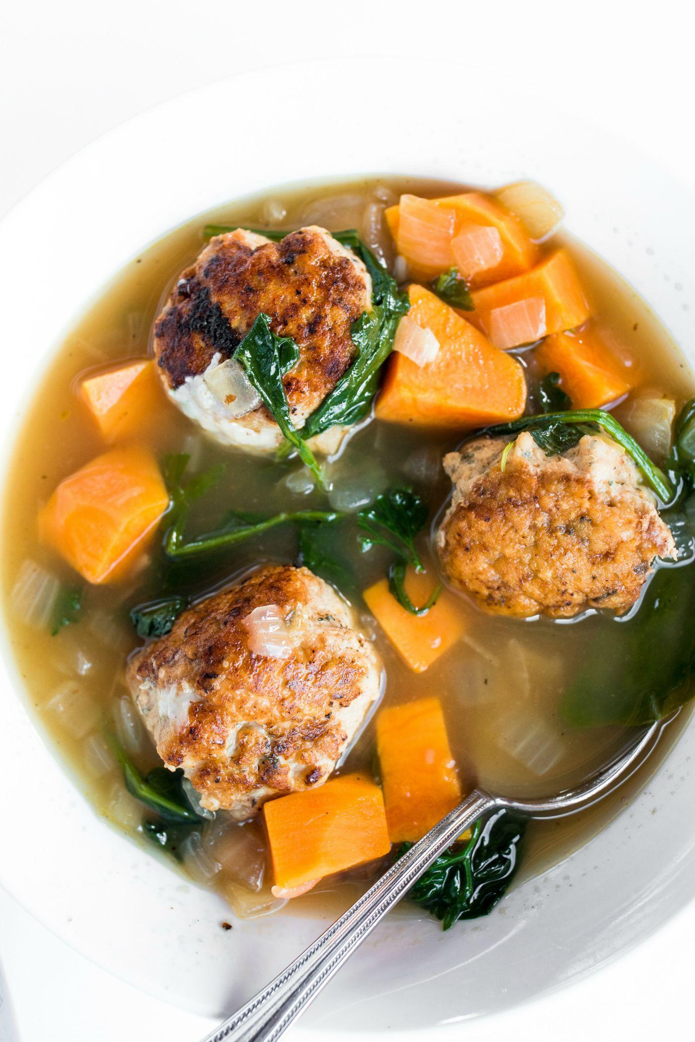 Chicken Meatball Italian Wedding Soup in 2020 Chicken
