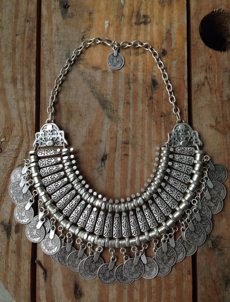 844c3409e8c8 Silver Goddess Statement Necklace from  Stéphane Rasselet. Eve Jewelry