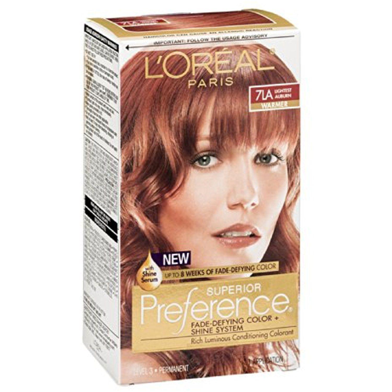 Loreal Superior Preference Hair Color 7la Lightest Auburn 1 Ea