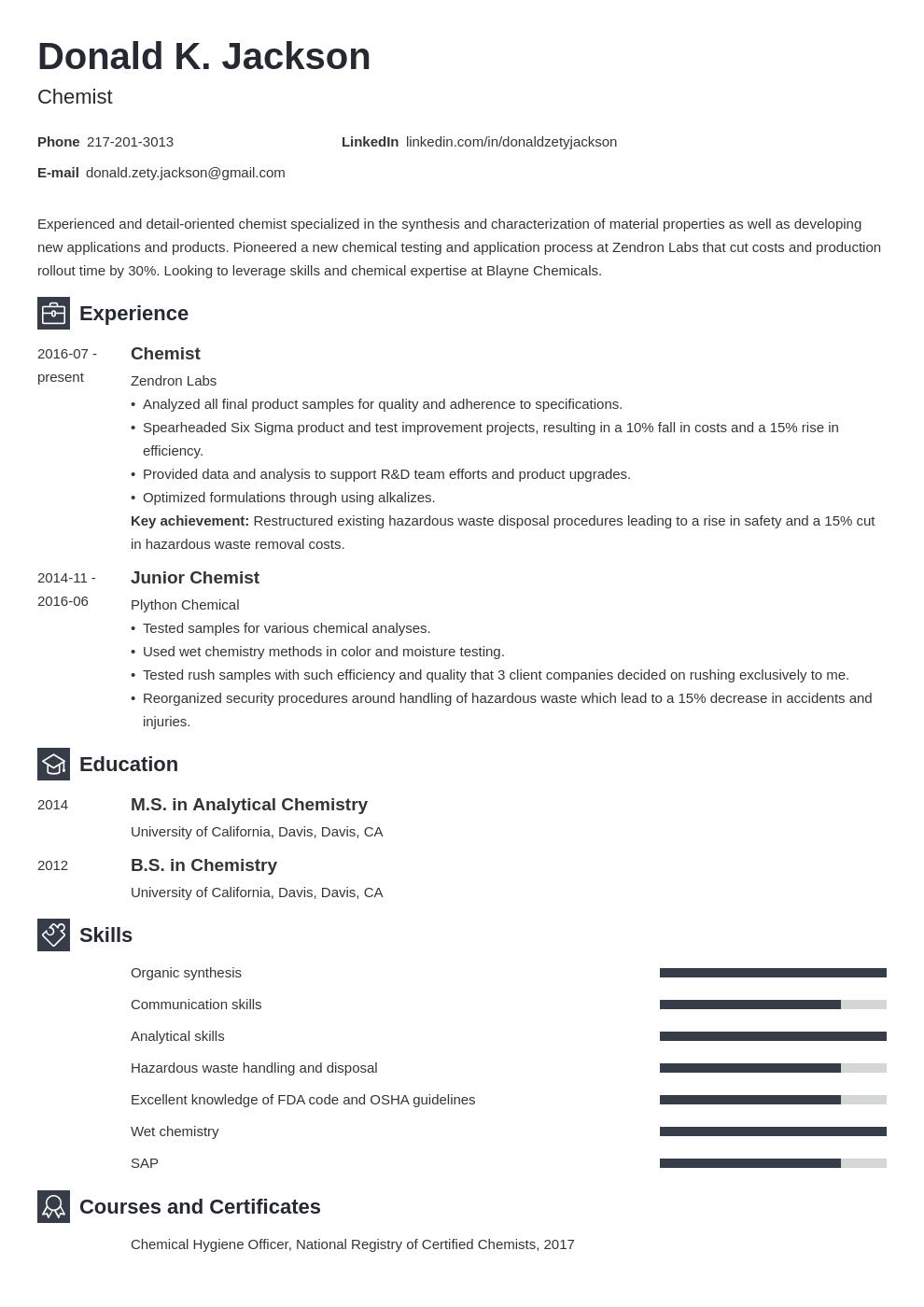 Science Resume Example Template Newcast Job Resume Examples Resume Examples Job Cover Letter