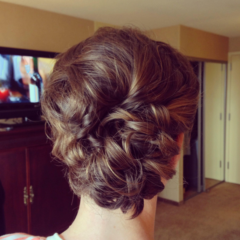 Short hair bridesmaid updo hair for weeding pinterest short