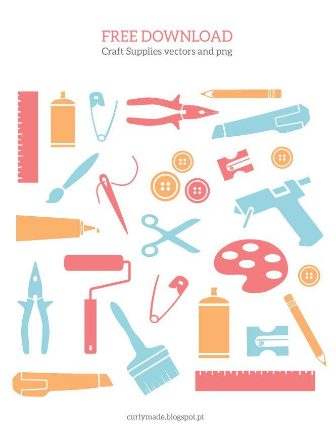 Free Download Craft Supplies Vectors And Png Curly Made Free Craft Supplies Craft Supplies Free Digital Scrapbooking