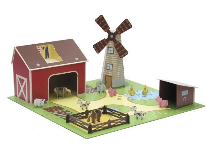 Cardboard farm sigh to make with kids cardboard toys for Como hacer una granja de peces