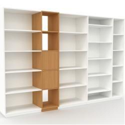 Photo of Regalsystem Weiß – Flexibles Regalsystem: Türen in Eiche – Hochwertige Materialien – 303 x 200 x 47