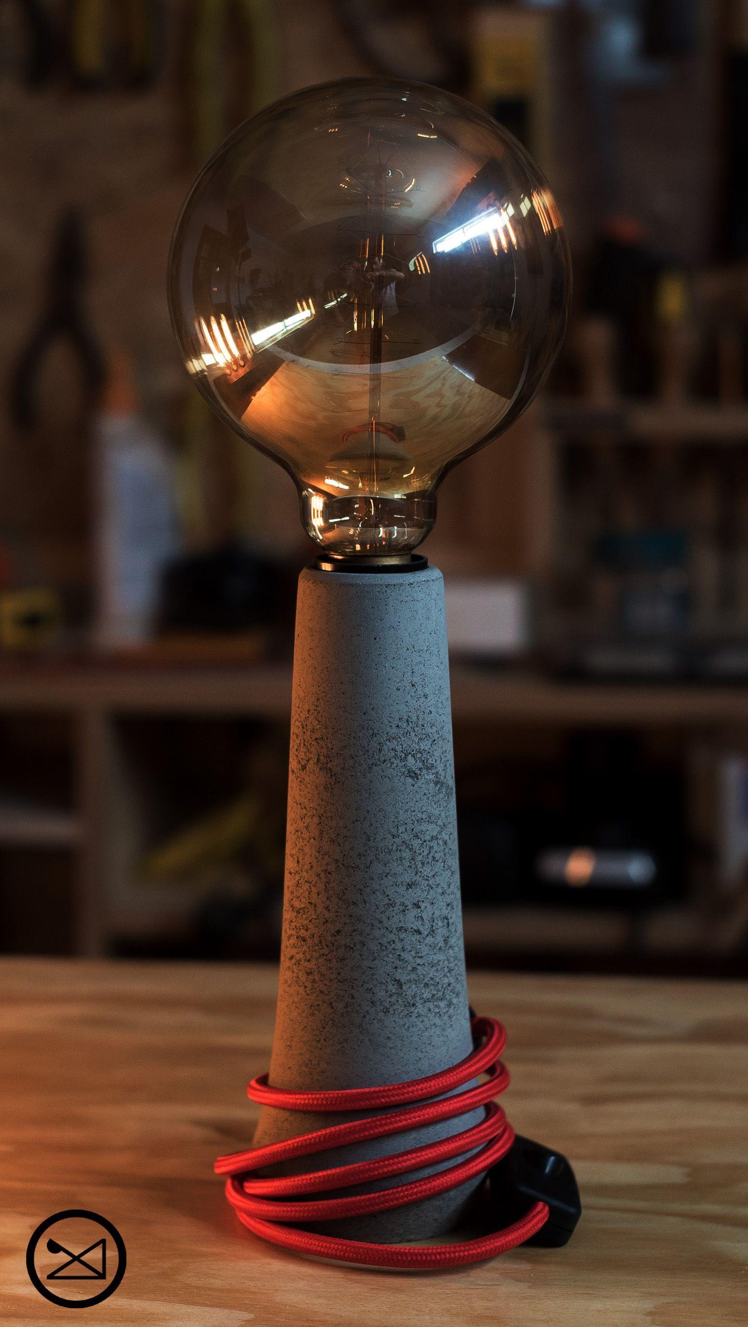 """Check out this @Behance project: """"Concrete Lamp Lampara de"""
